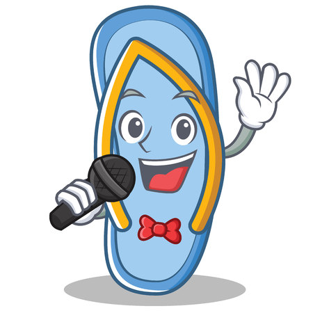 Singing flip flops character cartoon