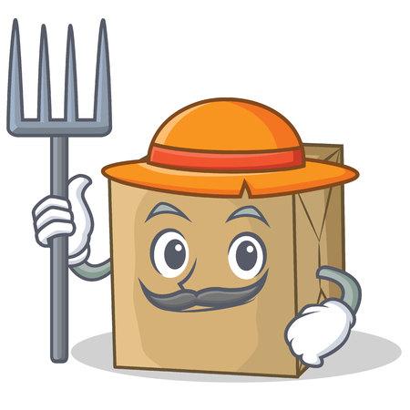 Farmer cardboard character character collection vector illustration Illustration
