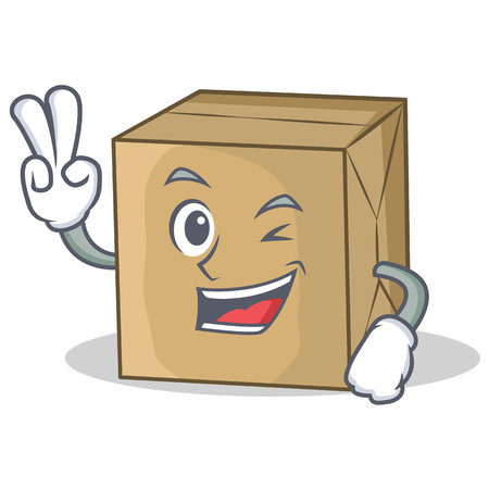 Two finger cardboard character character collection vector illustration