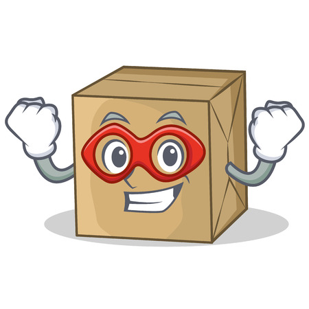 Super hero cardboard character character collection vector illustration