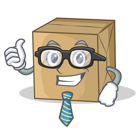 Businessman cardboard character character collection Illustration