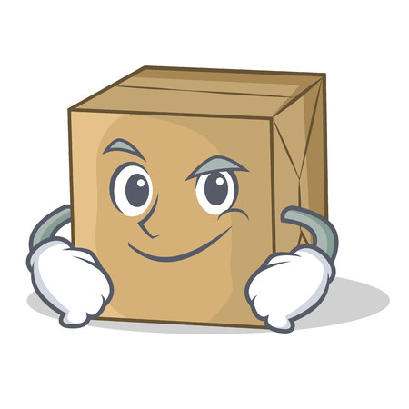 A Smirking cardboard character character collection