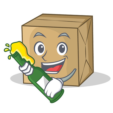 With beer cardboard character character collection