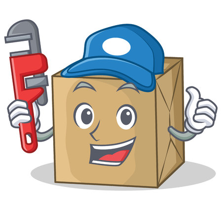 Plumber cardboard character character collection Illustration