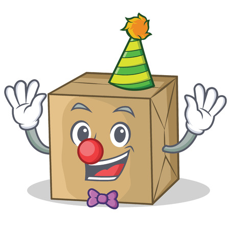 Clown cardboard character character collection vector illustration.