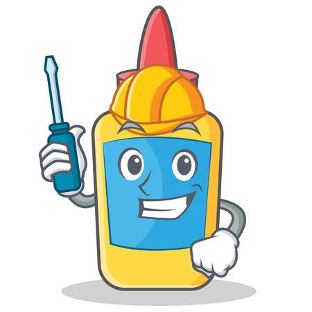 Automotive glue bottle character cartoon