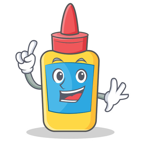 Finger glue bottle character cartoon