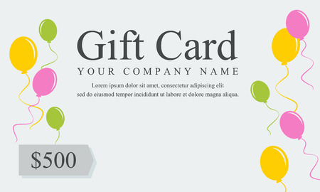 Style gift voucher card collection