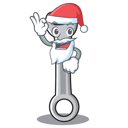 Santa spanner character cartoon style vector illustration Illustration
