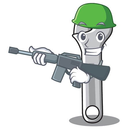 Army wrench character icon Illustration