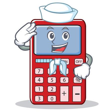 Sailor cute calculator character cartoon