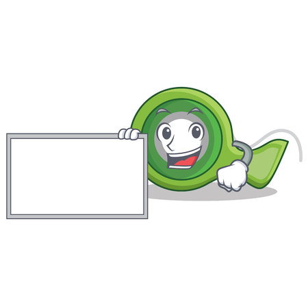 With board adhesive tape character cartoon Illustration