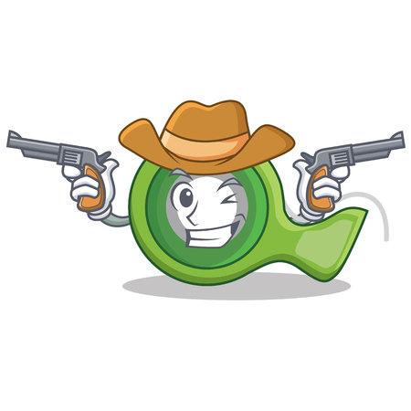 Cowboy adhesive tape character cartoon Illustration