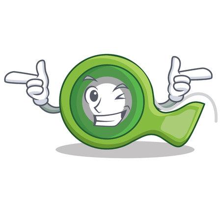 Wink adhesive tape character cartoon vector illustration Illustration