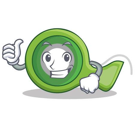 Thumbs up adhesive tape character cartoon vector illustration