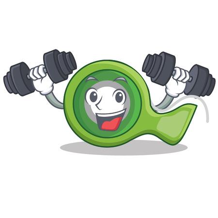 Fitness adhesive tape character cartoon vector illustration.