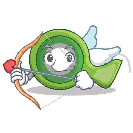 Cupid adhesive tape character cartoon vector illustration.