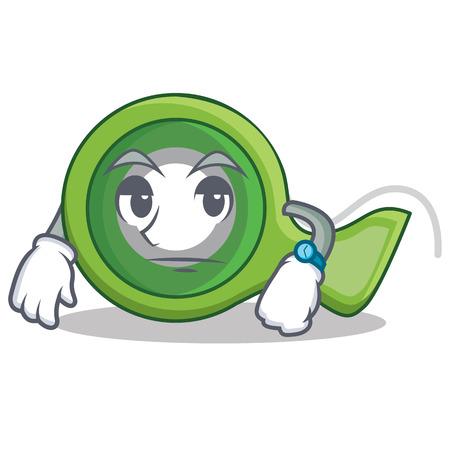 Waiting adhesive tape character cartoon vector illustration