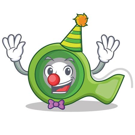 Clown adhesive tape character cartoon vector illustration.