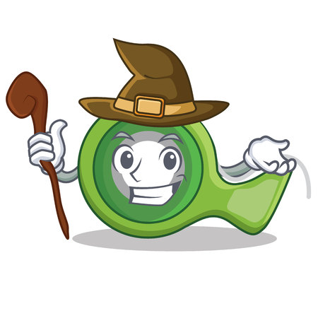Witch adhesive tape character cartoon vector illustration.