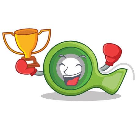 Boxing winner adhesive tape character cartoon
