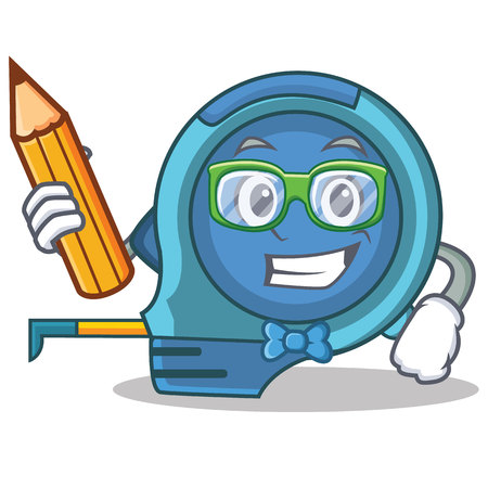 Student tape measure character cartoon vector illustration Illustration
