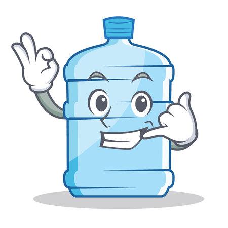 Call me gallon character cartoon style vector illustration