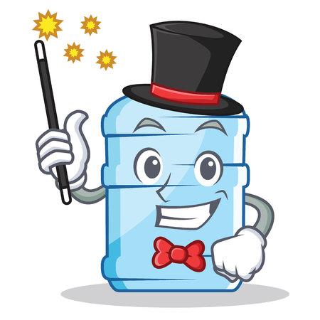 Magician gallon character cartoon style vector illustration