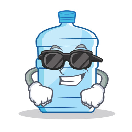Super cool gallon character cartoon style vector illustration