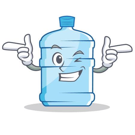 Wink gallon character cartoon style vector illustration Stock Photo