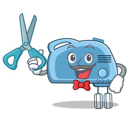 Barber mixer character, cartoon style vector illustration Illustration