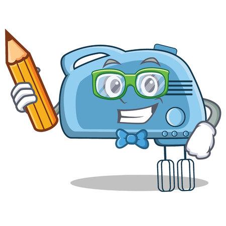 servicio domestico: Ilustración de vector de estilo de dibujos animados de estudiante mezclador personaje Vectores