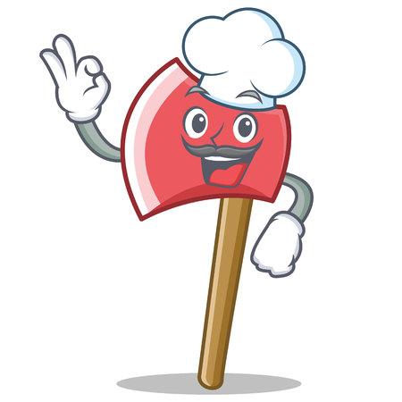 Chef axe character cartoon style vector illustration Illustration