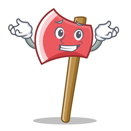 Grinning axe in cartoon character style illustration.
