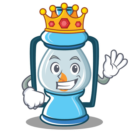 King lantern character cartoon style Stock Photo