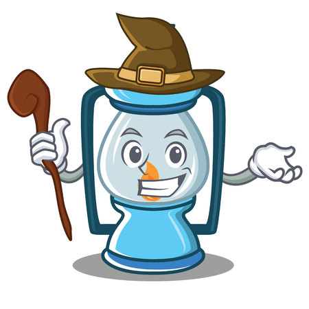Witch lantern character cartoon style