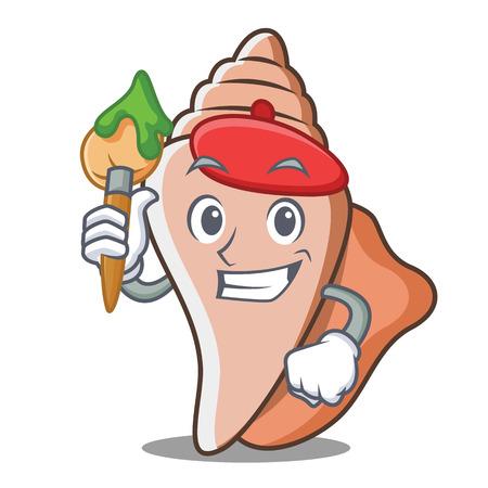 Künstler süße Schale Charakter Cartoon Standard-Bild - 89852312