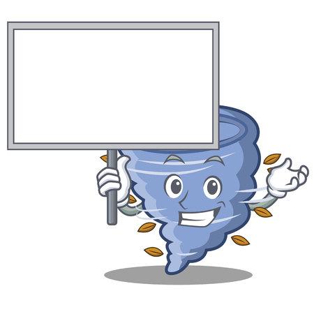 Bring board tornado character cartoon style