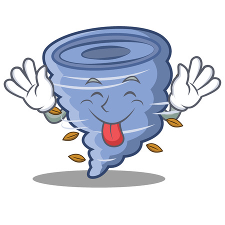Tongue out tornado character cartoon style Banco de Imagens - 89844005