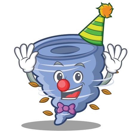 Clown tornado character cartoon style Illustration