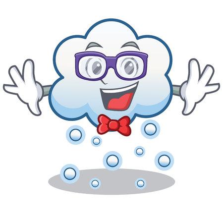 Geek snow cloud character cartoon