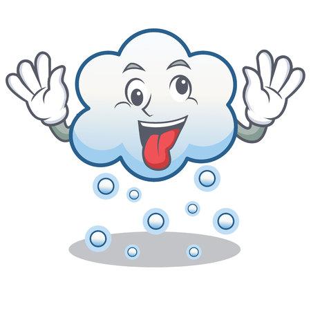 Crazy snow cloud character cartoon