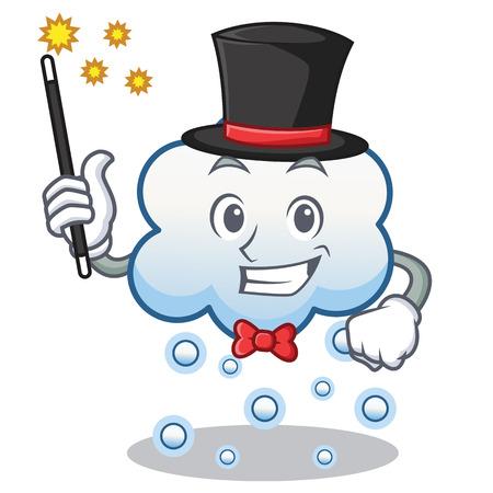 Magician snow cloud character cartoon