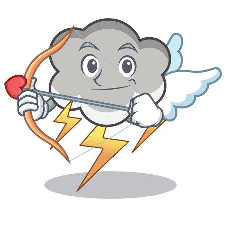 Cupid thunder cloud cartoon character.