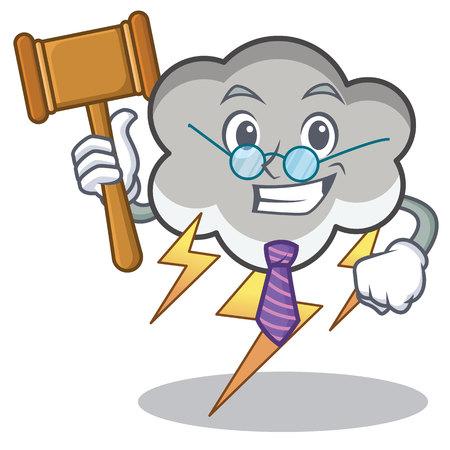Judge thunder cloud character cartoon