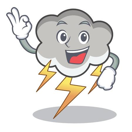 Okay thunder cloud character cartoon