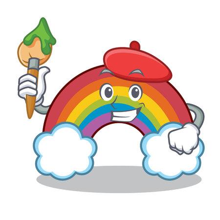 Artist colorful rainbow character cartoon