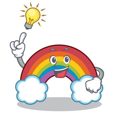 Have an idea colorful rainbow character cartoon Illustration