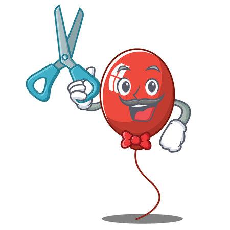 Barber balloon character cartoon style