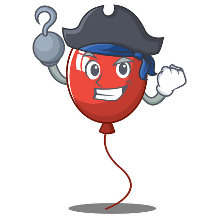 Pirate balloon character cartoon style